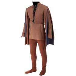 """Richard Greene """"Robin Hood"""" costume and shoes from Sword of Sherwood Forest."""