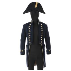"Alec Guinness ""Captain Crawford"" naval uniform jacket, cape, and hat from Damn the Defiant."