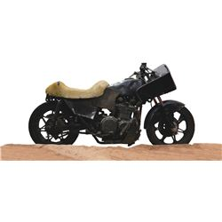 """Vernon Wells """"Wez"""" post-apocalyptic custom motorcycle from Mad Max 2: The Road Warrior."""