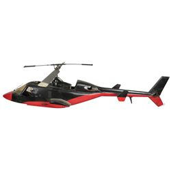 """Redwolf"" RC helicopter model miniature from the Airwolf episode ""Airwolf II""."