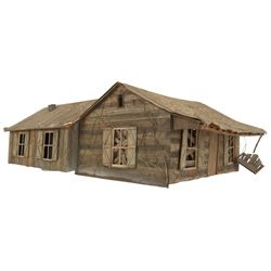 Model miniature cabin from Evil Dead II.