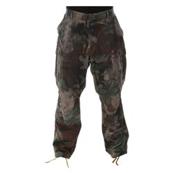 "Arnold Schwarzenegger ""Dutch"" distressed pants from Predator."