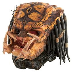 """Predator"" prosthetic mask display from Predator 2."