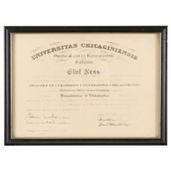 "Kevin Costner ""Elliot Ness"" framed degree from The Untouchables."