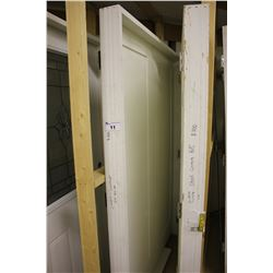 FRENCH FRONT DOORS WITH FRAME, WHITE
