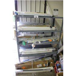 3 SHELVES OF ASSORTED WINDOW BLINDS