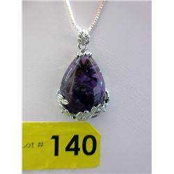 Custom Made Sterling Silver. Amethyst Necklace