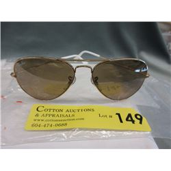 New Ray Ban Aviator Sunglasses with Brown  Lenses