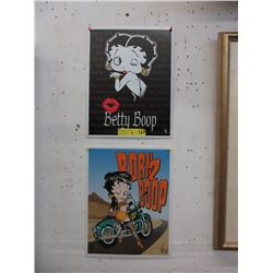 """2 New Metal Betty Boop Signs - 12"""" x 16"""""""