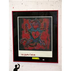 """Limited Edition Lithograph """"Red Buffalo Dancing"""""""