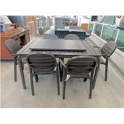 New Nardi Palma Patio Table with 6 Chairs and Leaf