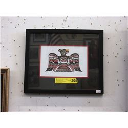 "Richard Shorty Framed Print ""Thunderbird"""
