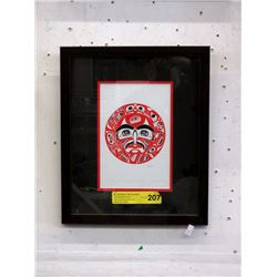 "Richard Shorty Framed Print ""Man Eagle Bear"""