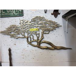 Brass Tree Wall Art