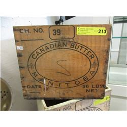 Manitoba Wood Canadian Butter Crate
