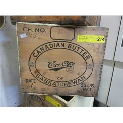Saskatchewan Wood Canadian Butter Crate