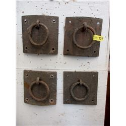 Four Cast Metal Chain Anchors