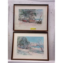 2 Framed Stuart Prints of Barbados