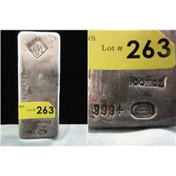 Vintage 100 Oz. Johnson Matthey .999 Silver Bar