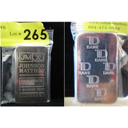 TD Bank & Johnson Matthey .999 Silver 5 Oz. Bar