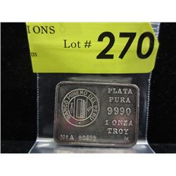 1 Oz. Bank of Peru .999 Silver Investor Bar