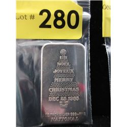 1 Oz. National Mint .999 Silver Bar