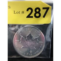 1 Oz. Canada Maple Leaf .9999 Silver Coin