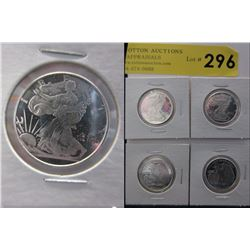 4 x 1/4 Oz. Golden State Mint .999 Silver Rounds