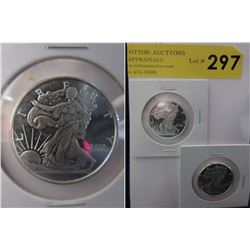 2 x 1/2 Oz. Golden State Mint .999 Silver Rounds