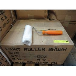 Case of 4 Dozen New Paint Roller Brush Sets