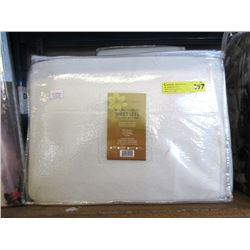 New Twin Size Micro Fleece Sheet Set - White