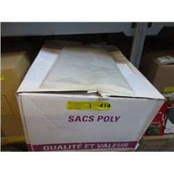 3 Cases of New Commercial Poly Bags