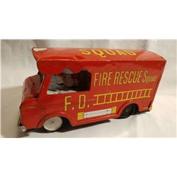 TIN, FRICTION FIRE TRUCK