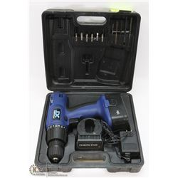 18V DRILL IN CASE WITH CHARGER AND 1 BATTERY