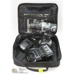 20V CORDLESS DRILL WITH 2 BATTERIES, CHARGER AND