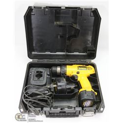 DEWALT 9.6V CORDLESS DRILL WITH 2 BATTERIES