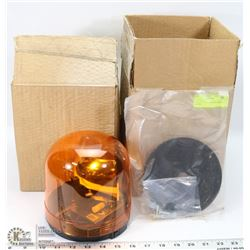 2 NEW HALOGEN AMBER ROTATING LIGHTS