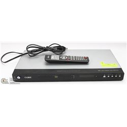 COBY DVD PLAYER WITH REMOTE.