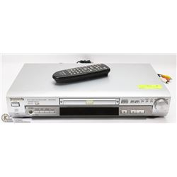 PANASONIC DVD PLAYER WITH REMOTE.