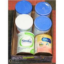 LOT OF 5 SIMILAC INFANT FORMULA AND 1 ENFAMIL