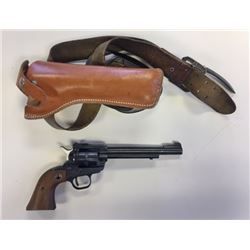 "Ruger Single Six SA revolver .22 LR and .22 Mag cylinders, 6 ½"" bbl, holster, s#60-35196"