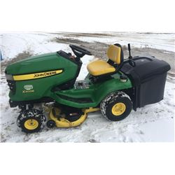 John Deere X300R riding mower, w/ bagger
