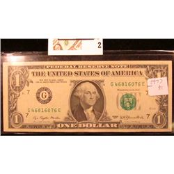 Series 1977 $1 Uncirculated Federal Reserve Note.