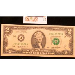 Series 2003A Uncirculated Two Dollar Federal Reserve Note.