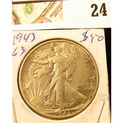 1943 P Walking Liberty Half Dollar.
