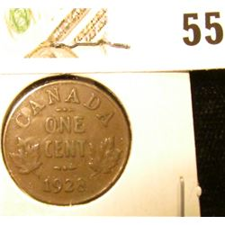 1928 Canada small Cent, EF.