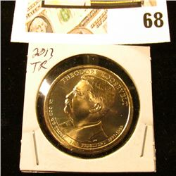 2013 P Gem Uncirculated Theodore Roosevelt Presidential Dollar Coin.