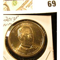 2013 D Gem Uncirculated William McKinley Presidential Dollar Coin.