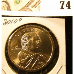 2010 D Sacagawea Dollar (Native American Dollar) Gem Uncirculated.