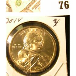 2014 D Sacagawea Dollar (Native American Dollar) Gem Uncirculated.